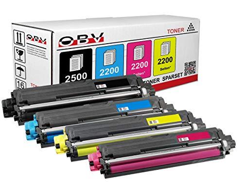 OBV 4X kompatibler Toner als Ersatz für Brother TN-242BK / TN-246M / TN-246Y / TN-246C schwarz Cyan Magenta gelb für MFC-9142CDN MFC-9332CDW MFC-9342CDW HL-3142CW HL-3152CDW HL-3172CDW DCP-9022CDW