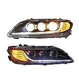 Testa Lampada Per Mazda6 2003-2013 Doppio Lente Proiettore Xenon HID KIT/LED Faro Assemblies Con LED Luci Diurne Una Coppia