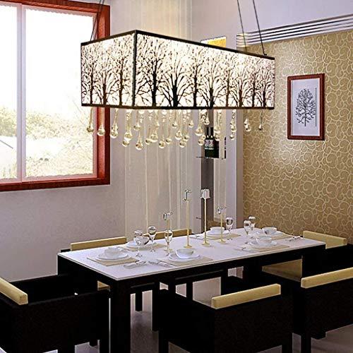 Yhtech nórdico Lámparas colgantes Lámparas de cristal, candelabros, lámparas de techo restaurante, acero inoxidable talla iluminación decorativa, Moderno Salón Dormitorio lámparas de cristal, luz cáli