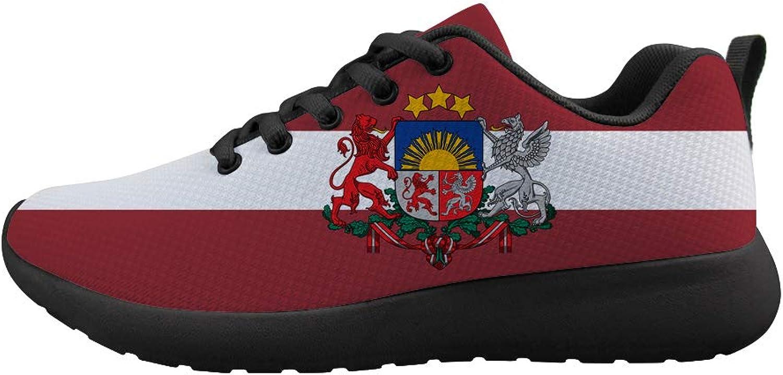 Owaheson Cushioning Sneaker Trail Running shoes Mens Womens Latvia Flag National Emblem