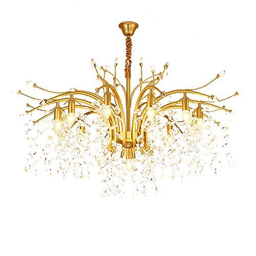 E14 Nórdico Forma De Flor Caliente Romántico Personalidad Durante La Iluminación,Salón Dormitorio Lámpara De Comedor,Creativo Ligero Lujo Luces De Araña De Cristal-Shakin 13 cabezas