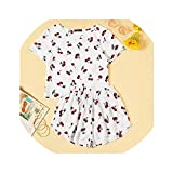 Oudiy Print White Top and Summer Shorts Pajamas Set Women Casual Short Sleeve Sleep Set,White,S