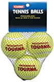 Tourna Pressureless Practice Tennis Balls, Training-Hitting Drills-3 Pack