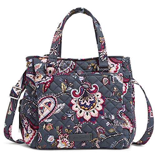 Vera Bradley Signature Cotton Mini Multi-Compartment Crossbody Purse, Felicity Paisley