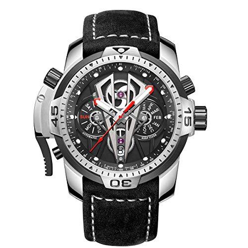 Reef Tiger Reloj Analógico Automático para Hombre con Correa en Cuero RGA3591 (RGA3591-YBB)