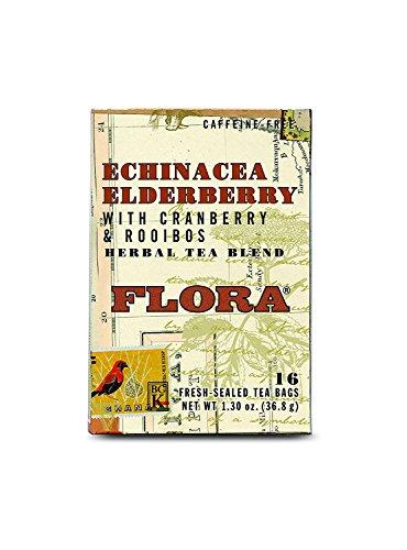 Flora Echinacea Elderberry Teabags 16 count