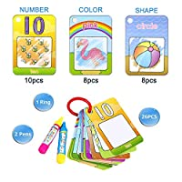 Coolplay Water Magic Word Cards Drawing Painting Mat Board Doodle Toy Gift - Shape,Number,Colour