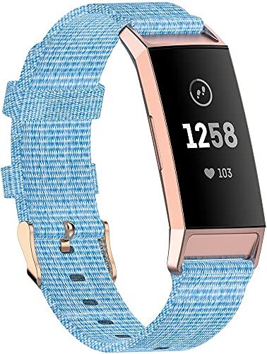 Chainfo Compatible con Fitbit Charge 4 / Charge 4 SE/Charge 3 SE/Charge 3 Correa de Reloj, Pulsera Deportivo de Reloj de Nylon, con Cierre de Clip, Respirable y Reemplazable (Pattern 2)