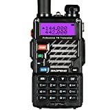 BaoFeng UV-5R Plus Qualette Talkie-Walkie VHF/UHF 2 m/70 cm Radio (Noir)
