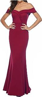 Zomerjurk voor dames, One Shoulder Solid Colors Split Fishtail jurk, formele avondjurk, slanke maxi-jurk