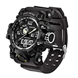 Men's Military Watch, Dual-Display Waterproof Sports Digital Watch Big Wrist for...