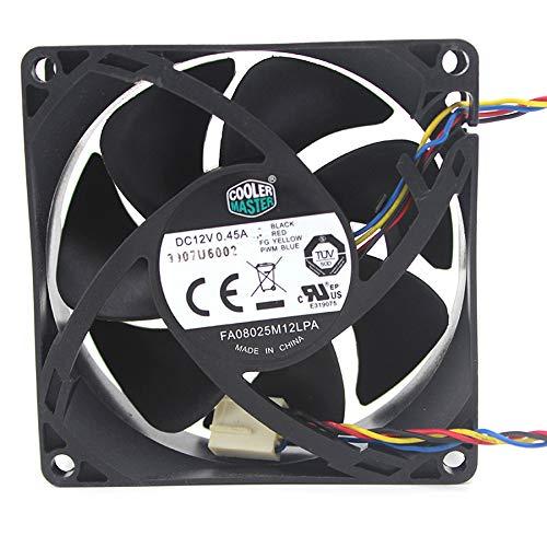 N / A Cooling Fan FA08025M12LPA,Server Cooler Fan FA08025M12LPA 0.45A DC 12V, Temperature Control Cooling Fan for 4-Lines 8CM