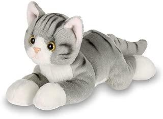 Bearington Lil' Socks Small Plush Stuffed Animal Gray Striped Tabby Cat, Kitten 8 inches