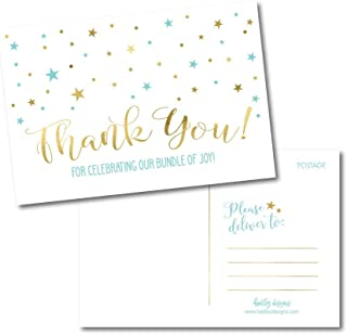 baby shower thank you postcards
