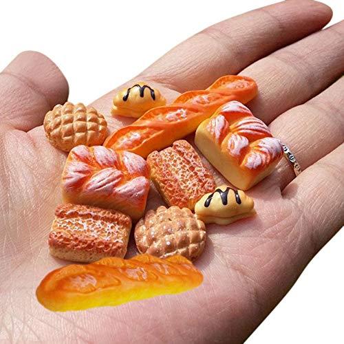 Uteruik - Accesorio de comida para casa de muñecas a escala 1:12, pan tostado en miniatura, 6 unidades