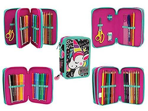 GoPop 21 Miss Unicorn Astuccio Triplo, Giochi Preziosi, Multicolore