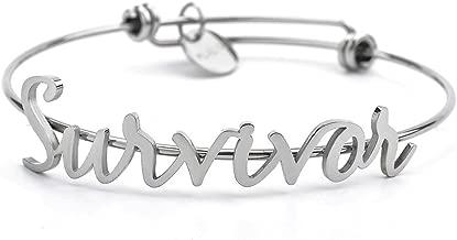 Fight Like a Girl Motivational Script Bracelet - Stainless Steel
