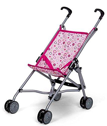 MINI MOMMY DISVALTOYS Sillita de Paseo para Muñecas - Metal - Plegable - Con cinturón de Seguridad - Altura manillar: 55 cm - Pink