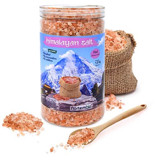 Nortembio Sal Rosa del Himalaya 1,5 Kg. Gruesa (2-5 mm). 100% Naturales. Sin...