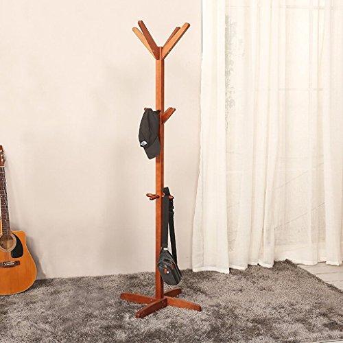SKC Lighting-Porte-manteau Cintres en bois solide de plancher de support de cintre Cintre créatif chambre à coucher intérieure cintre détachable Couleur de pêche, blanc (45 * 45 * 178CM) ( Couleur : Peach color )