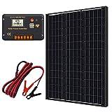 ECO-WORTHY Kit de panel solar monocristalino 60W 12V + controlador de carga 20A para batería de 12...