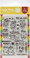 """Waffle Flower Crafts Clear Stamps 4""""X6""""-Winter Hamster"""