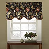 Waverly Felicite Floral Pattern with Grimp Trim Window Valance Curtains, 50' x 15'