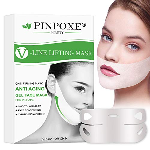 V lifting Masque, Masque V Line, Double Chin Réducteur, Masque de levage en V pour masque de levage à double couche intense, Soulever Masque Hydratant Raffermissant Anti-vieillissement