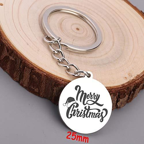 MEIHEK Schlüsselbund Weihnachten exklusiven Strumpf Stuffer Schmuck Mode Weihnachtsbaum Dekoration Schlüsselbund Trendy Round Key Ring