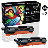 (Black) 2-Pack Compatible TN-227BK TN227 Toner Cartridge TN227 High Yield Used for Brother HL-L3210CW L3230CDW L3710CDW L3270CDW DPC-L3550CDW MFC-L3710CW L3750CDW L3770CDW Printer, Sold by ColorPrint