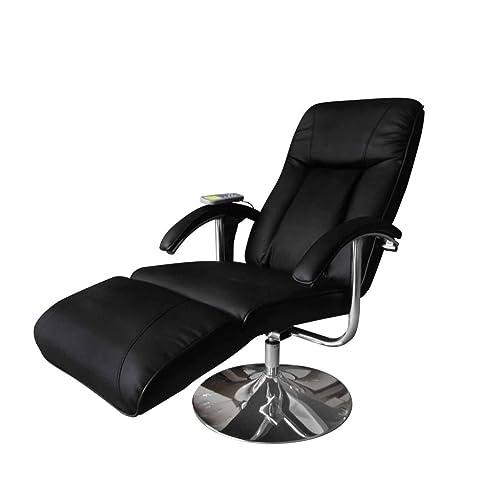 vidaXL Fauteuil relaxation massage relaxant massant électrique chauffant noir