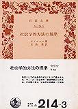 社会学的方法の規準 (1978年) (岩波文庫)