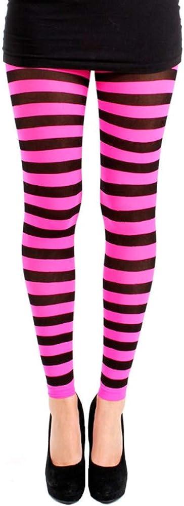 Pamela Mann Twickers Stripe Footless Tights - 50 Denier Opaque - 96% Nylon and 4% Elastin
