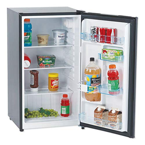 Avanti AR321BB All Refrigerator with Auto Defrost and Reversible Door, 3.2 cu. ft, Black