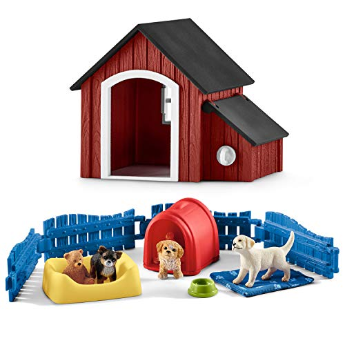 Farm World Schleich 42480 Welpenstube + 42376 Hundehütte