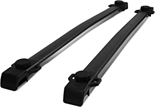 Pair Light Weight Aluminum Roof Top Rail Cross Bars Cargo/Luggage Carrier for 15-19 Jeep Renegade
