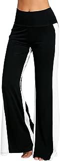 2019 Women High Waist Vintage Pants Loose Striped Cotton Long Wide Leg Lounge Trousers by-NWEONESUN