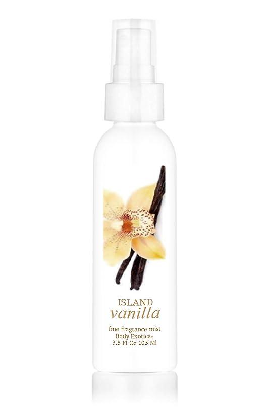 Island Vanilla Perfume Fragrance Mist by Body Exotics 3.5 Fl Oz 103 Ml ~ a Lush, Irresistible Blend of Tahitian Vanilla and Bourbon Vanilla