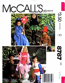 McCall's 8787 Princess Flower Elf Gnome Prince Robin Hood Costumes Sewing Pattern Size 6 - 8