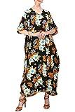 Miss Lavish London Kimono tipo túnica kaftán para mujer, tamaño libre, maxi vestido de fiesta para ropa de descanso, vacaciones, ropa de noche, playa, para uso diario