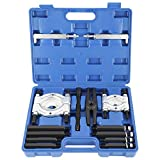 8MILELAKE 14PCS Bearing Separator Puller Set Heavy Duty 5-Ton Capacity 2inches and 3inches Splitters Remove Bearings Kit