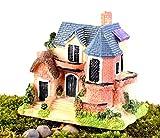 Zeagro Miniatura Paisaje Decoración Jardín Villa Adornos Casa de Muñecas para Planta Suculenta Accesorios DIY