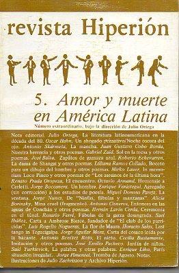 REVISTA HIPERIÓN. Nº 5. AMOR Y MUERTE EN AMÉRICA LATINA. Número Extraordinario...