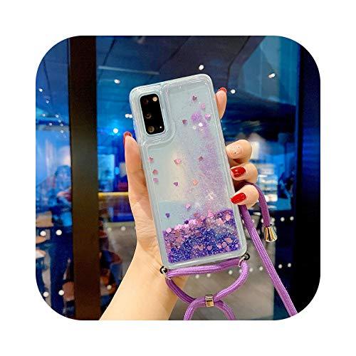 Carcasa con collar de arena movible Amor Lujo para Samsung Note10Lite S20 Plus A51 A71 S10Plus S9Plus-4-Samsung S8Plus