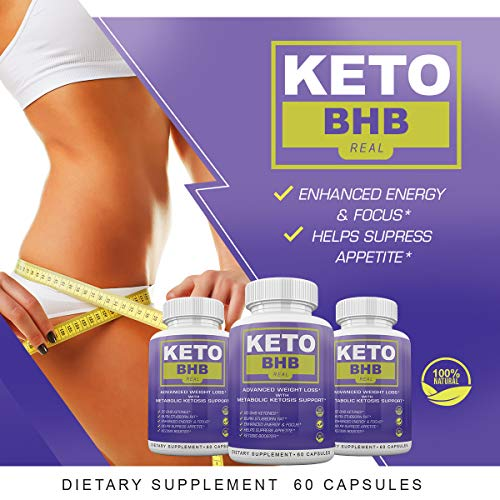 Keto BHB Real - Advanced Weight Loss with Metabolic Ketosis Support - 180 Capsules - 90 Day Supply 6