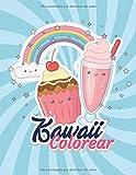 Kawaii Libro de Colorear: de 3-8 Años, libro de colorear para niños y niñas....