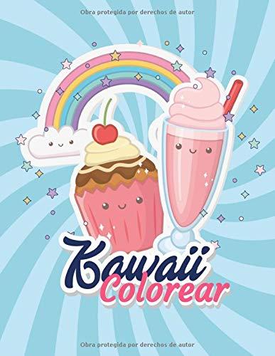 Kawaii Libro de Colorear: de 3-8 Años, libro de colorear para niños y niñas.
