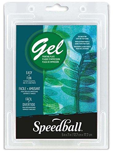 Unbekannt Speedball 12,7 x 17,8 cm Gel-Druckplatte, transparent