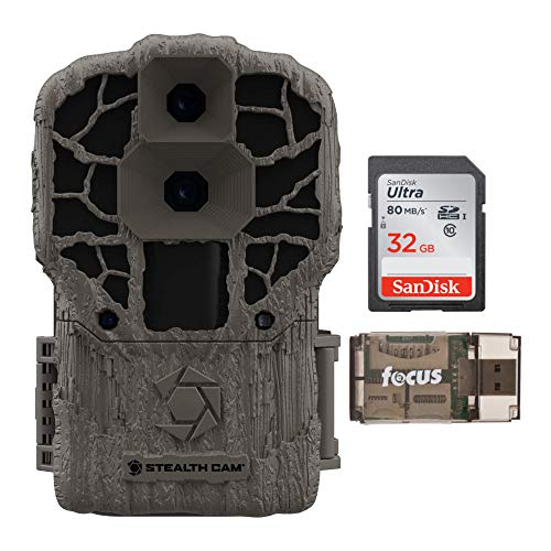 Stealth Cam DS4K Max 32MP Trail Camera with 32GB SD Card and Card Reader Bundle (3 Items)