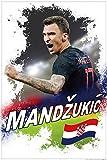 1art1 Fußball - Mario Mandzukic Kroatien Poster 91 x 61 cm